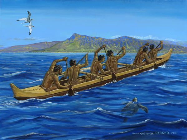 Hawaiian Six Man Canoe