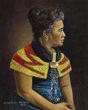Queen Liliuokalani Blue Dress