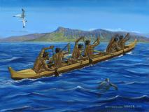 Hawaiian Six Man Canoe
