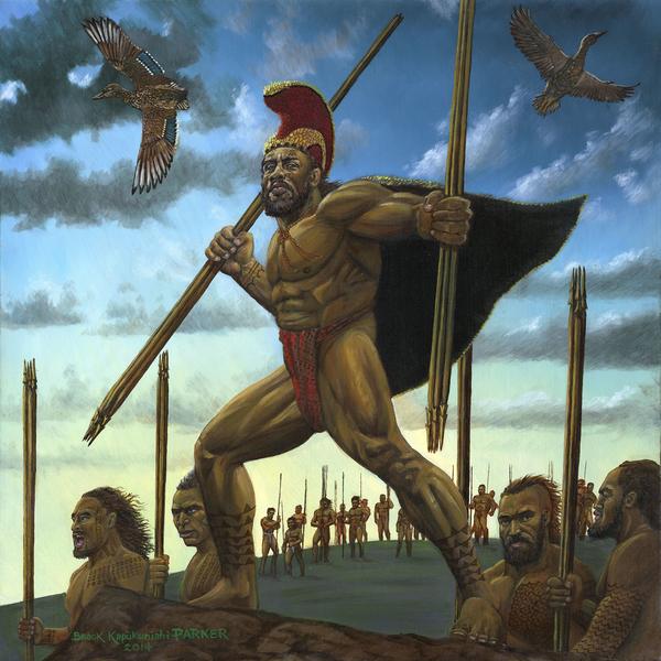 Hawaiian Warrior Imaikalani of Kau
